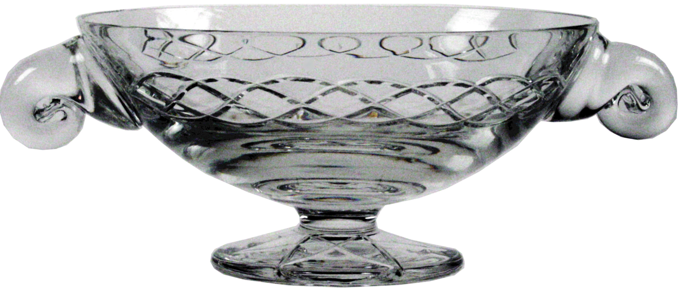 "Crystal Glass Quaich Bowl with Celtic design 12cm (4.75"")"
