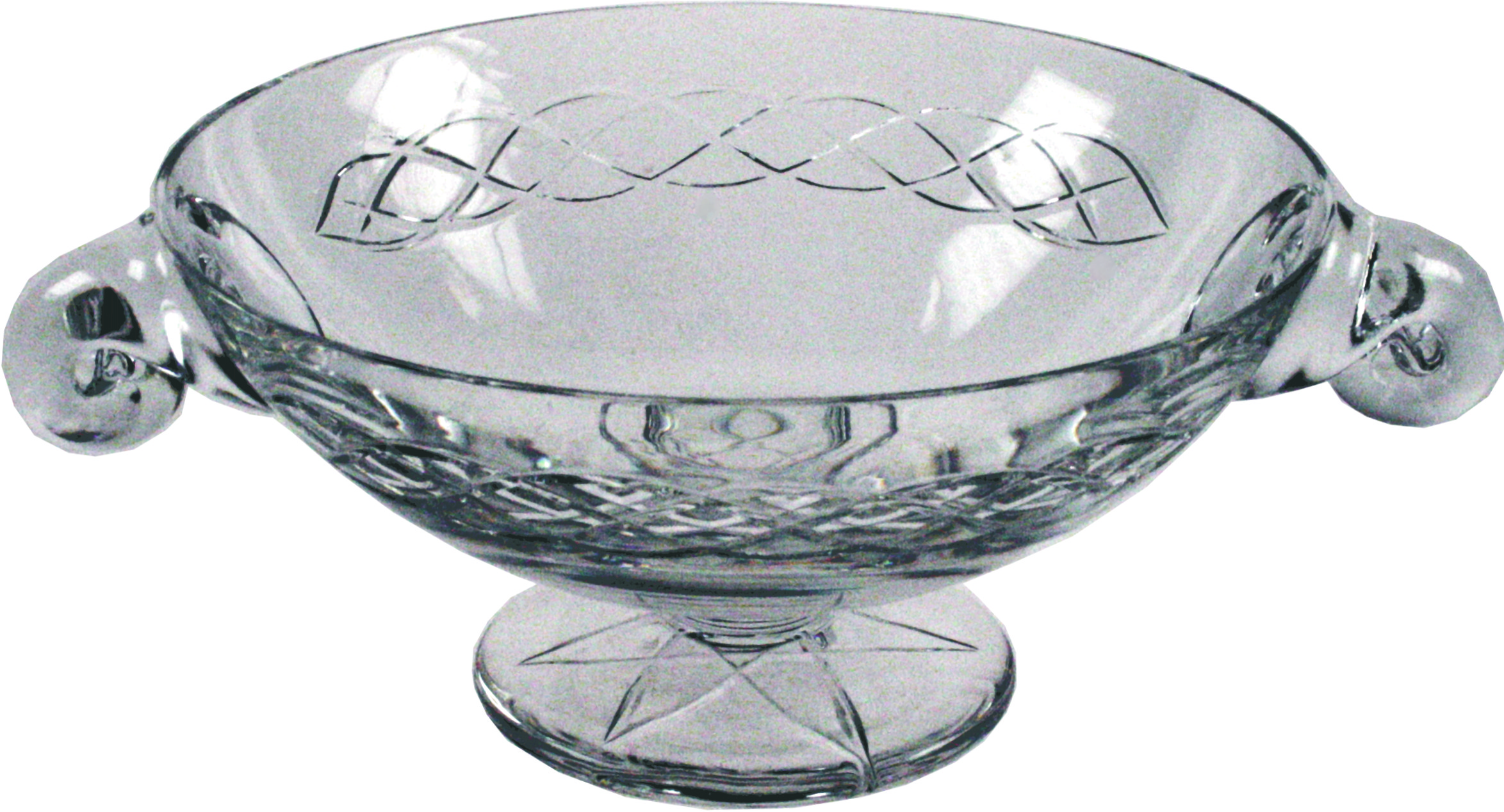 "Crystal Glass Quaich Bowl with Celtic design 20cm (8"")"