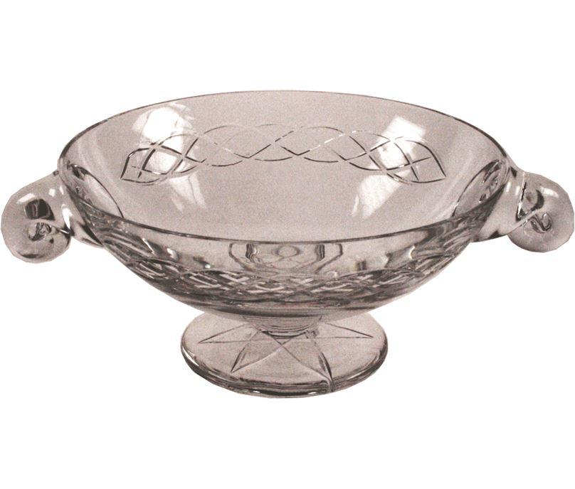 "Crystal Glass Quaich Bowl with Celtic design 20cm (8"")"