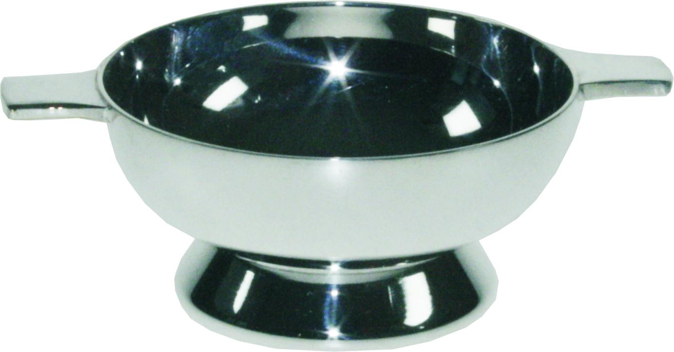 """Plain Spun Silver Plated Quaich 5cm (2"""")"""