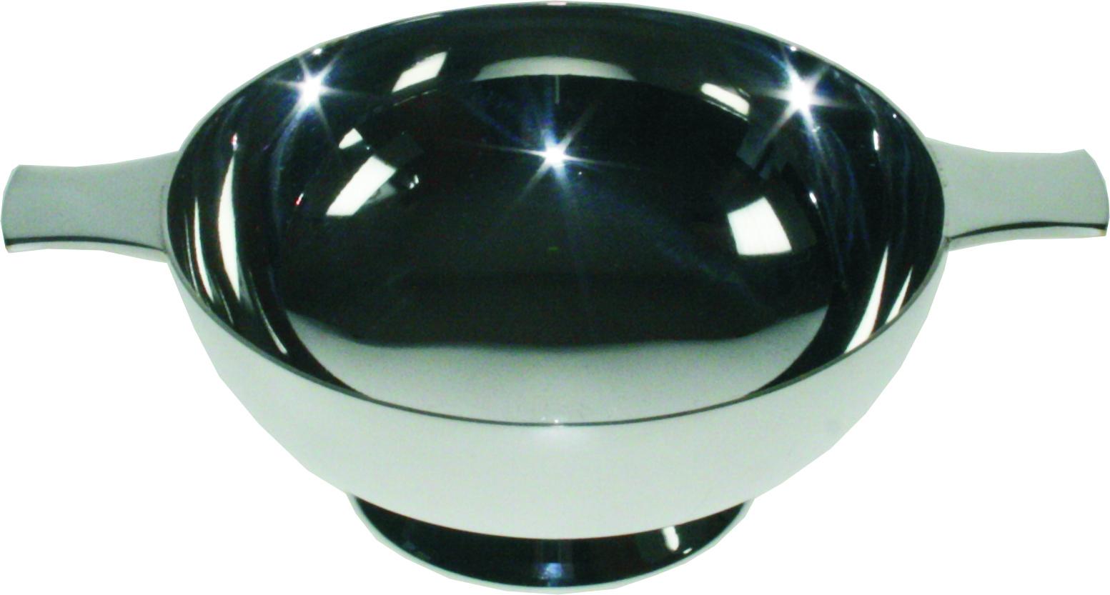 """Plain Spun Silver Plated Quaich 10.5cm (4"""")"""