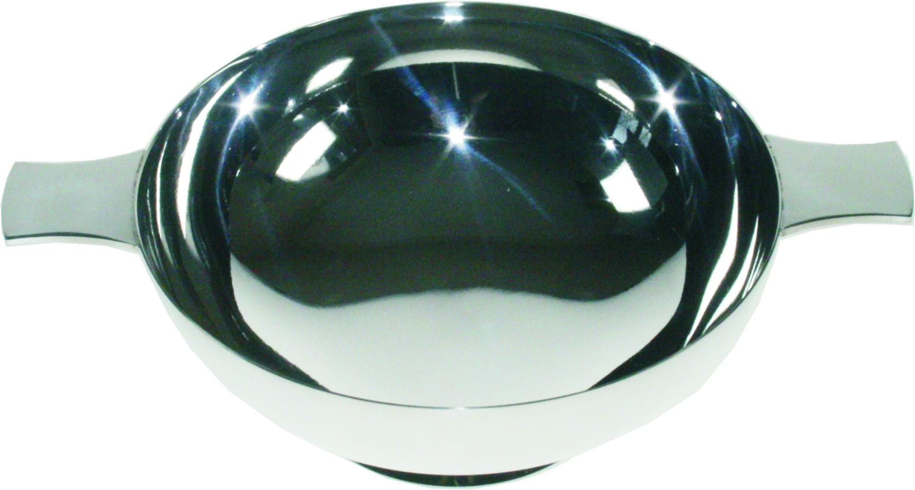 """Plain Spun Silver Plated Quaich 13cm (5"""")"""