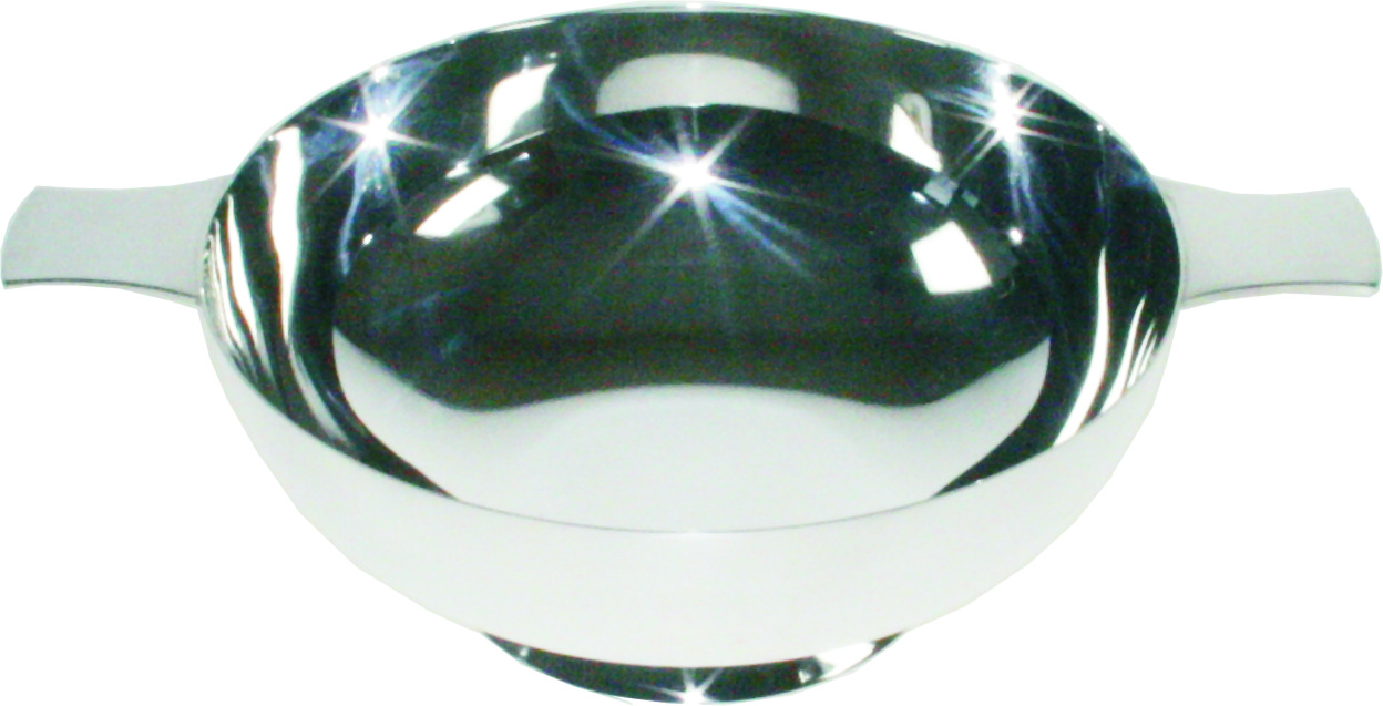 """Plain Spun Silver Plated Quaich 15.5cm (6"""")"""