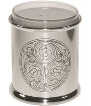 """Pewter Kells Candle Votive and Candle 9cm (3.5"""")"""