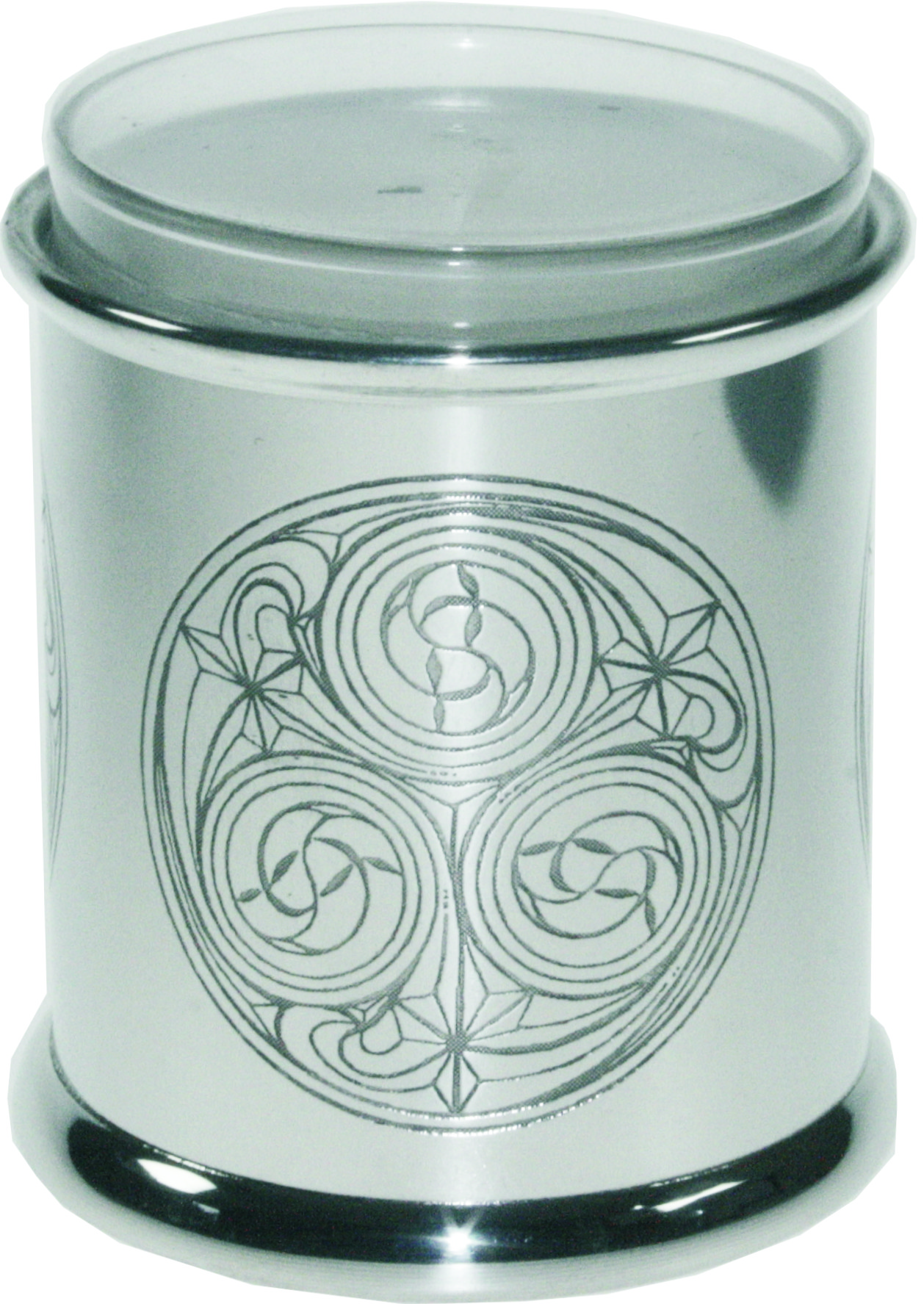 "Pewter Kells Candle Votive and Candle 9cm (3.5"")"