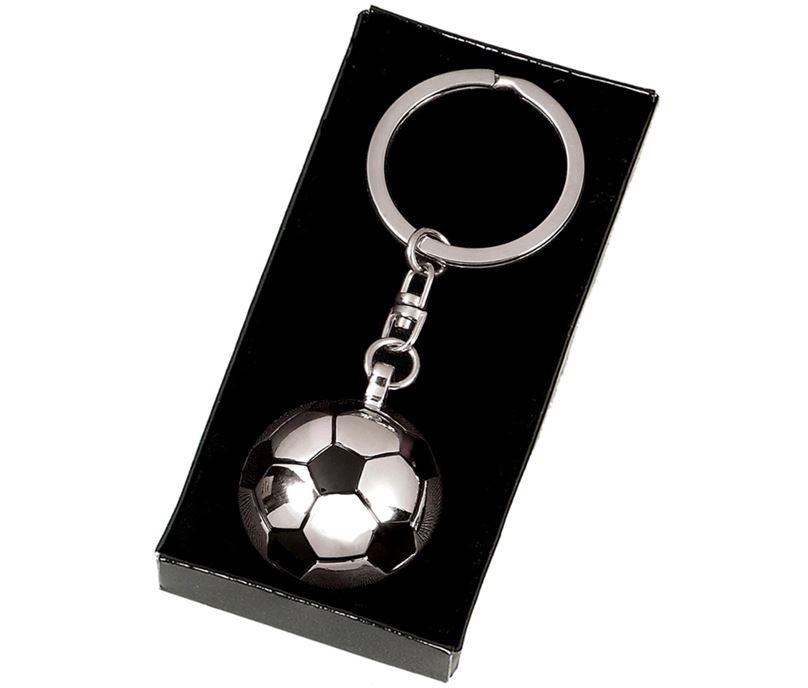 "Silver and Black Crown Football Key Ring 3.8 x 3.5cm (1.4 x 1.3"")"