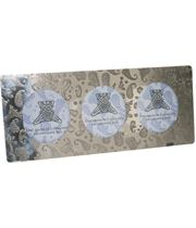 """Silver Pewter Triple Photo Frame with Paisley Detail 11cm (4.25"""")"""