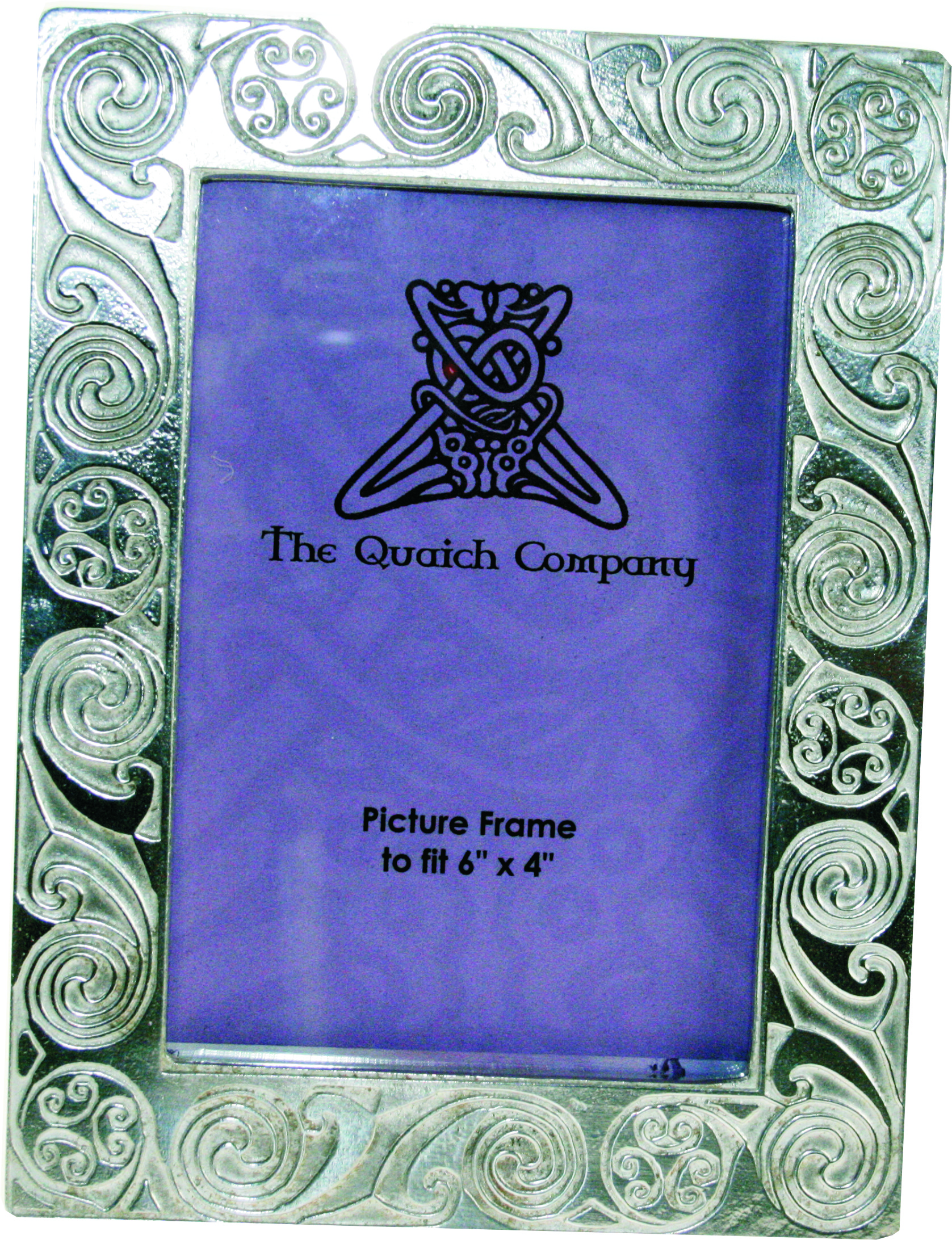 "Silver Pewter Photo Frame with Kells Circle Detail 20.5cm (8"")"