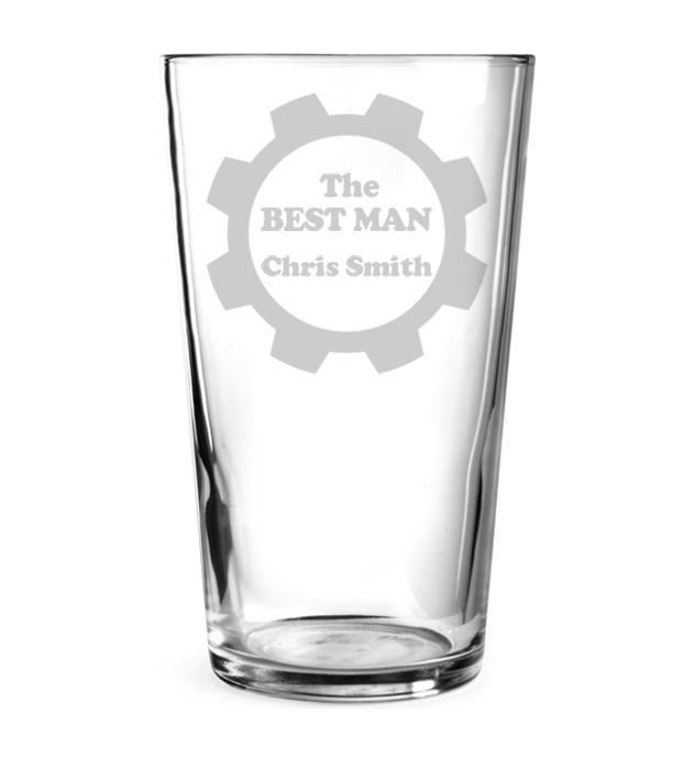 """The Best Man Personalised Pint Glass 15cm (6"""")"""