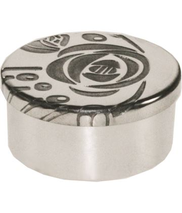 "Pewter Trinket box with CRM Design on lid 5cm (2"")"