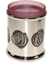 """Pewter CRM Candle Votive and Candle 9cm (3.5"""")"""