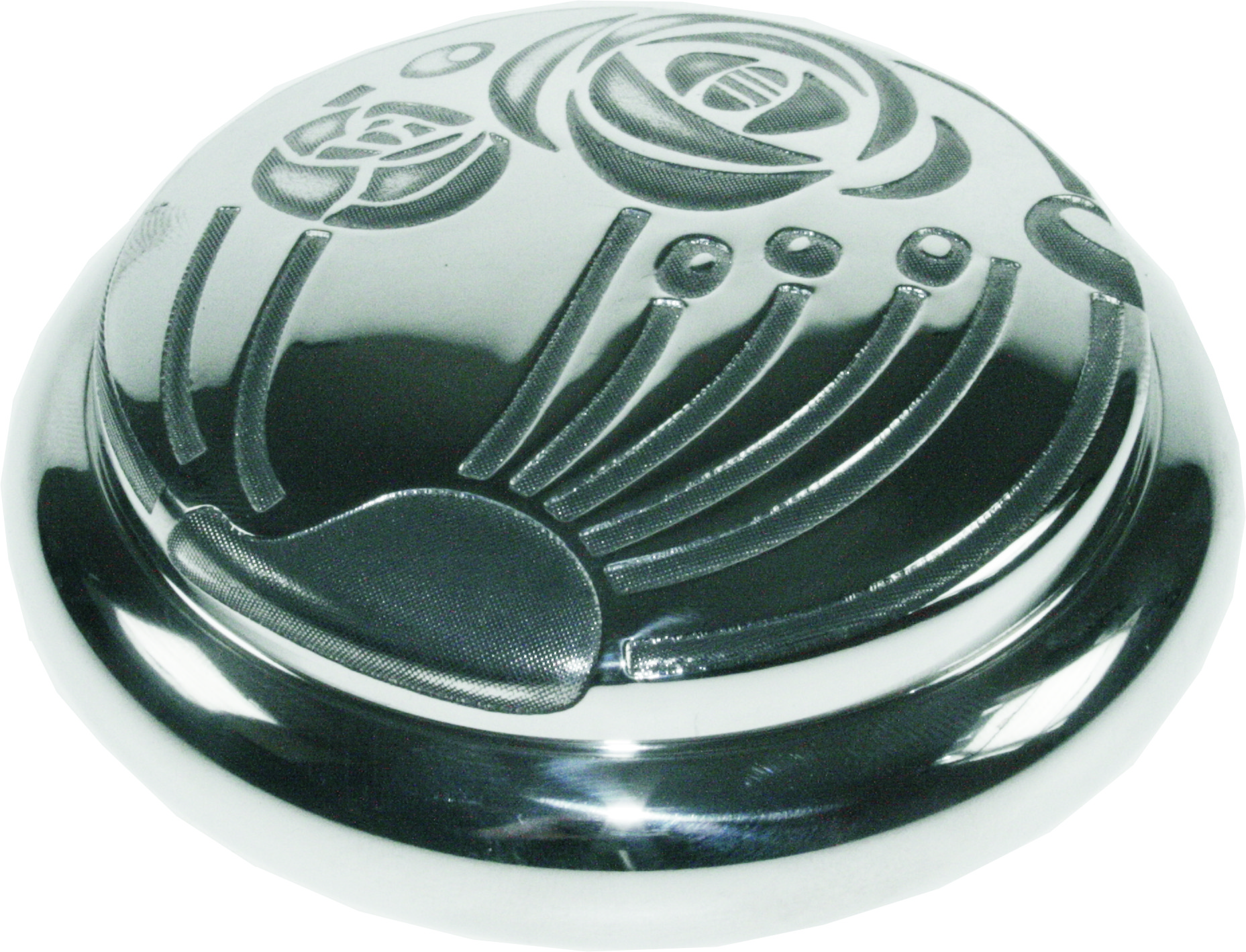 "Pewter Georgian Trinket box with a CRM Design 8.5cm (3.25"")"