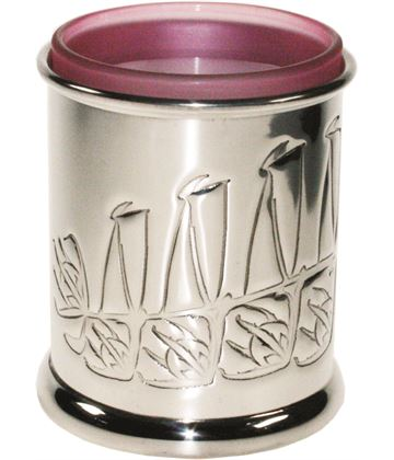 """Pewter Knox Candle Votive and Candle 9cm (3.5"""")"""