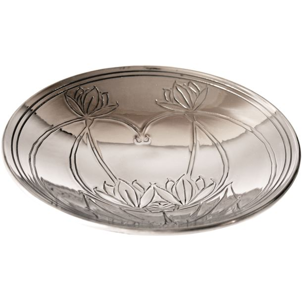"Knox Pattern Shallow Pewter Bowl 21cm (8.25"")"