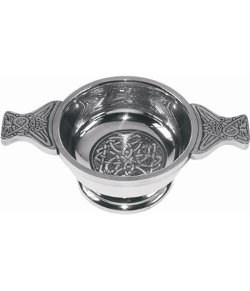 "Pewter Quaich Bowl with Celtic Circle 7cm (2.75"")"