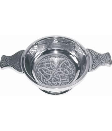 "Pewter Quaich Bowl with Celtic Circle 9cm (3.5"")"