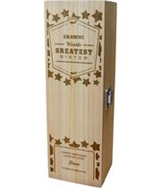 """Personalised Wooden Wine Box - World's Greatest Sister 35cm (13.75"""")"""