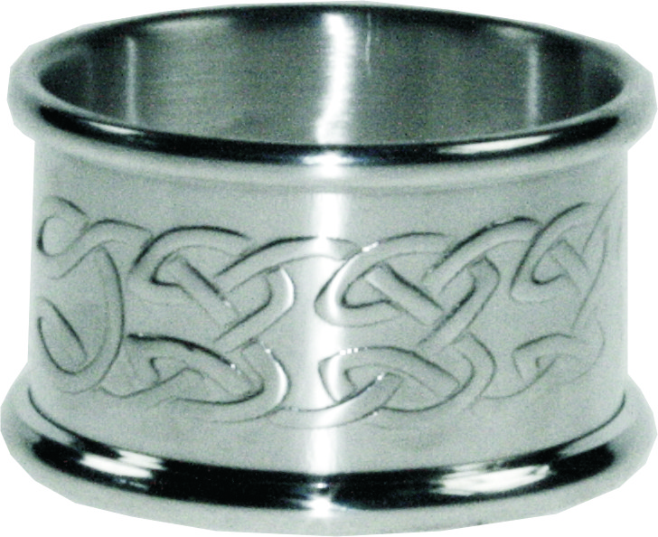 "Set of Four Pewter Celtic Napkin Rings 5cm (2"")"
