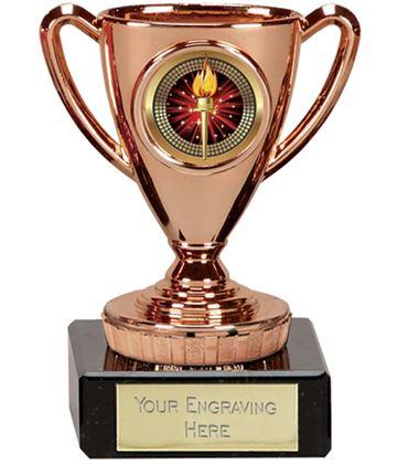 """Bronze Cup Trophy 10cm (4"""")"""