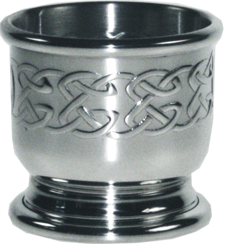 """Celtic Band Egg Cup with Stainless Steel Spoon 5.5cm (2.25"""")"""
