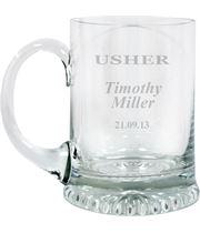 "Usher Personalised 3/4pt Lead Crystal Star Base Tankard 13cm (5.25"")"