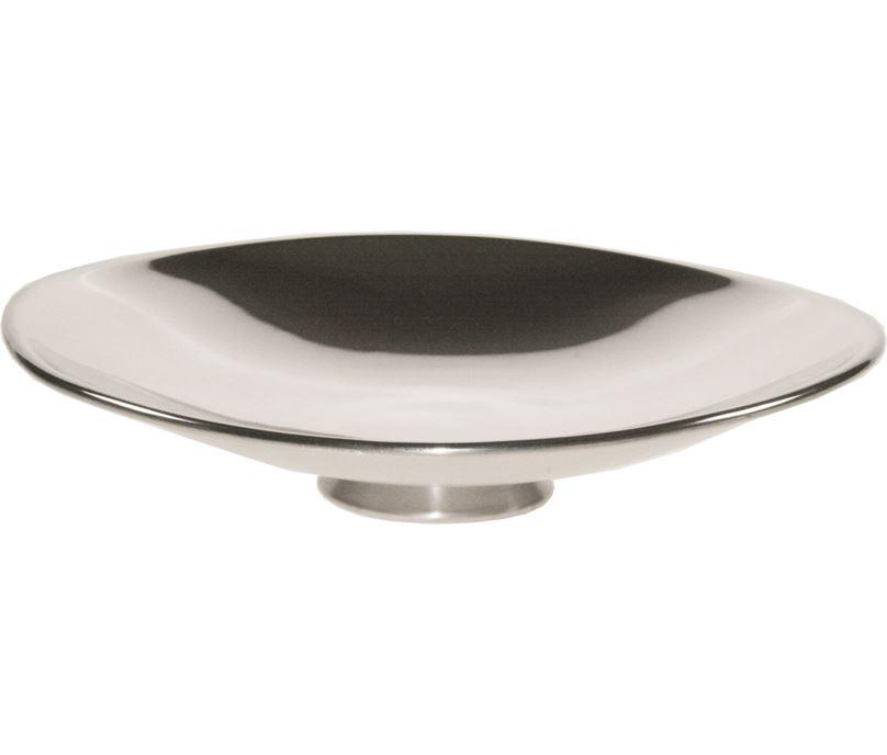 "Plain Shallow Pewter Bowl 21cm (8.25"")"