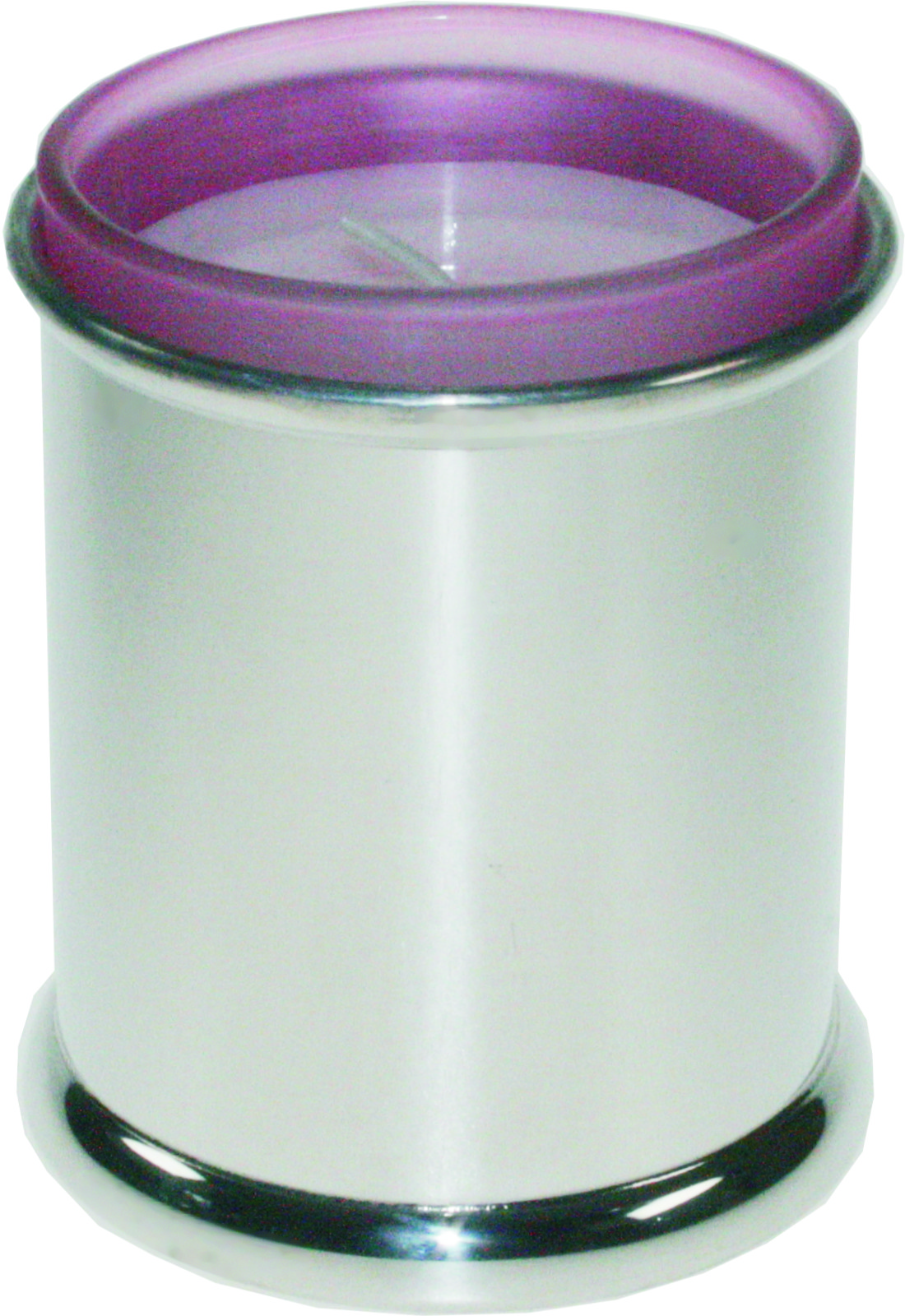 "Pewter Plain Candle Votive and Candle 9cm (3.5"")"