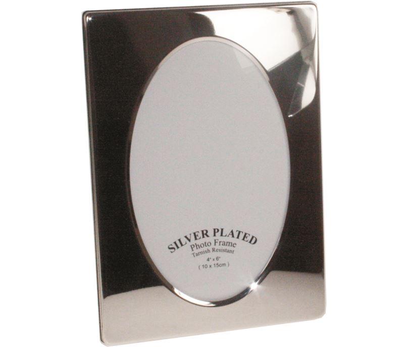 "Plain Silver Plated Photo Frame 17cm (6.75"")"