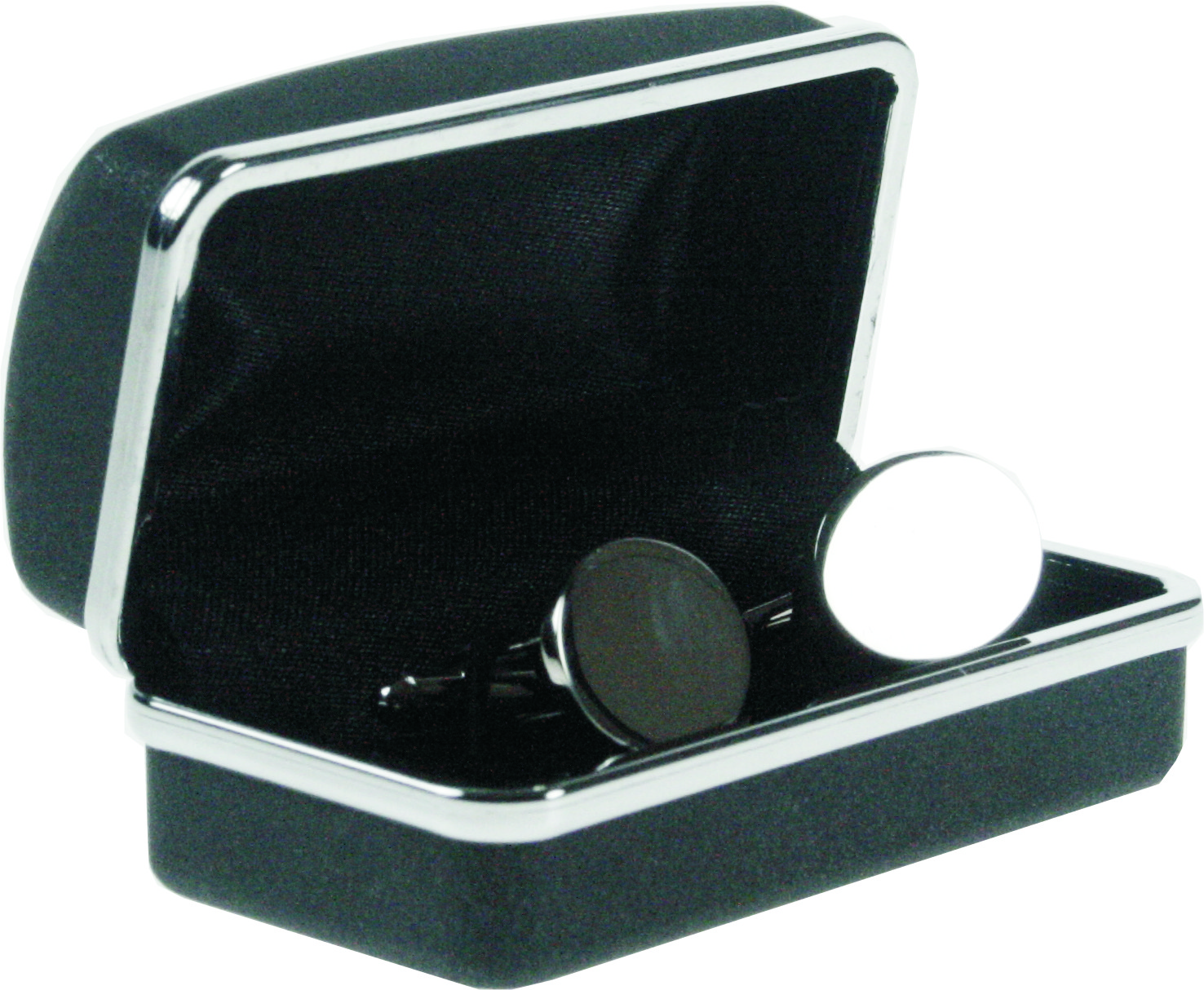 Polished Oval Cufflinks in Snap Hinged Box
