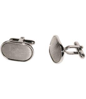 Satin Oval Cufflinks in Snap Hinged Box
