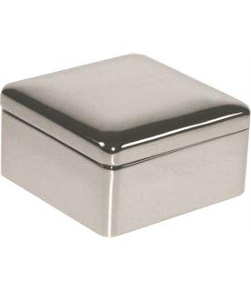 """Silver Plated Square Box 3cm (1.25"""")"""
