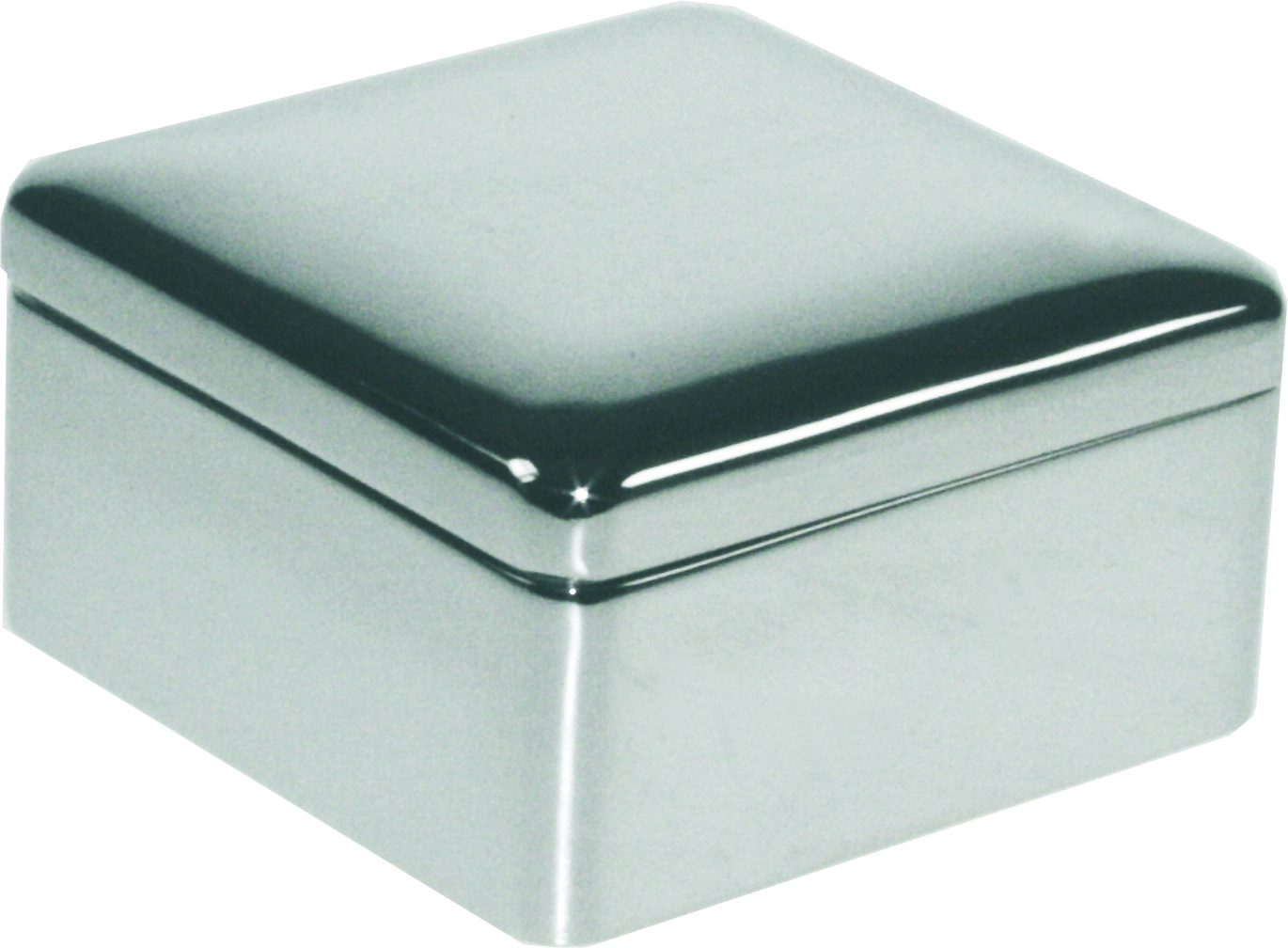 "Silver Plated Square Box 3cm (1.25"")"