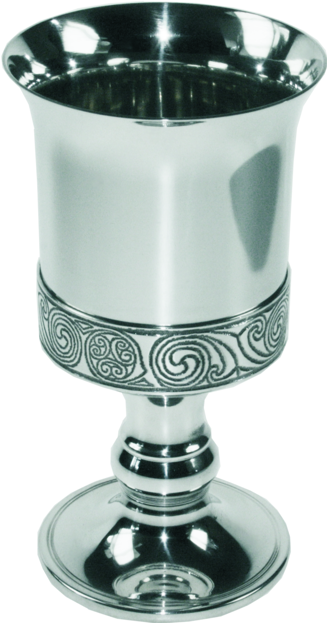 "Pewter Goblet with Kells Detail 15cm (6"")"