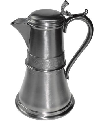 "Antique Finish Pewter Medieval Flagon 20cm (7.75"")"