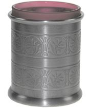 """Pewter Medieval Candle Votive and Candle 9cm (3.5"""")"""