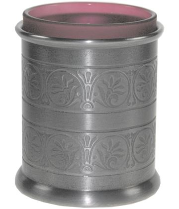 "Pewter Medieval Candle Votive and Candle 9cm (3.5"")"