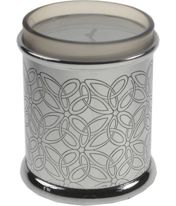 "Pewter Triquetra Candle Votive and Candle 9cm (3.5"")"
