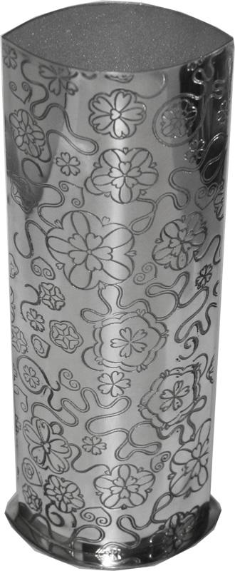 "Pewter Bud Vase with Yorkshire Rose Pattern 25cm (9.75"")"