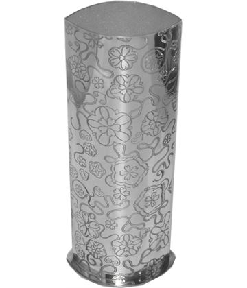"Pewter Bud Vase with Yorkshire Rose Pattern 25cm (9.75"")"