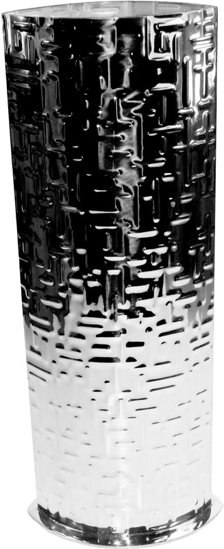 "Pewter Bud Vase with Metropolitan Pattern 25cm (9.75"")"
