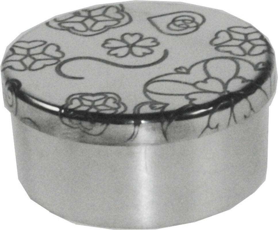 "Rose Round Trinket Box 5cm (2"")"