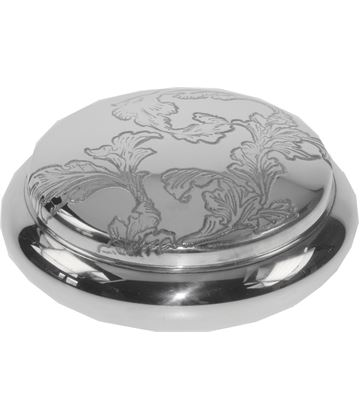 "Pewter Georgian Trinket box with an Acanthus Pattern 8.5cm (3.25"")"