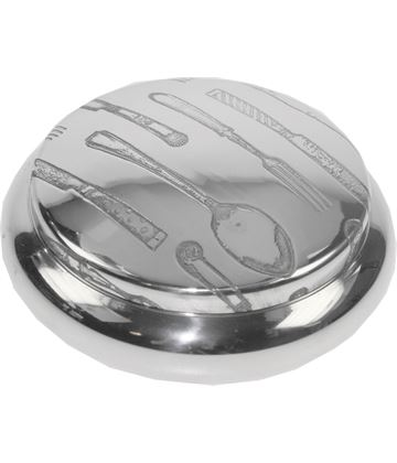 "Pewter Georgian Trinket box with a Cutlery Pattern 8.5cm (3.25"")"