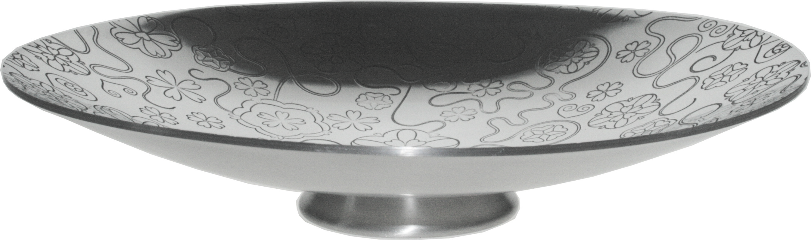 "Yorkshire Rose Pattern Pewter Bowl 20.5cm (8"")"