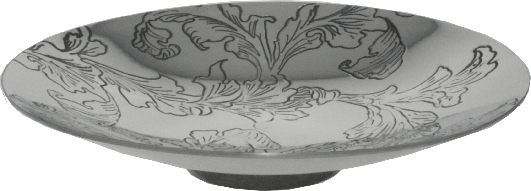"Acanthus Pattern Pewter Bowl 20.5cm (8"")"