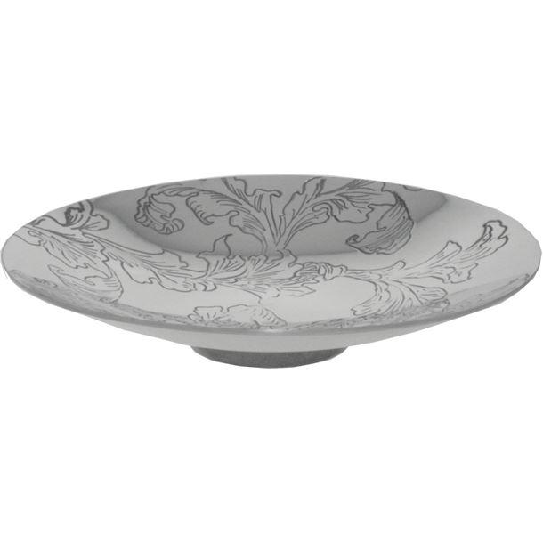"""Acanthus Pattern Pewter Bowl 20.5cm (8"""")"""