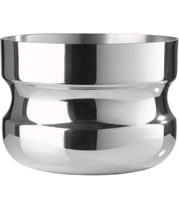 """Silver Bowl Wide Base & Mouth with Pinched Middle Groove 20cm (7.75"""")"""