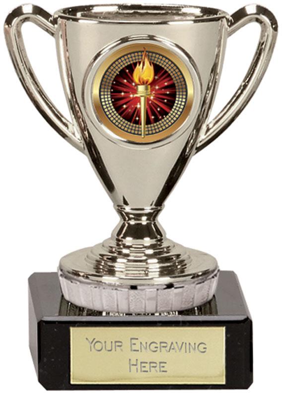 "Silver Cup Trophy 10cm (4"")"