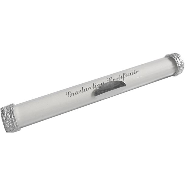 "Graduation Certificate Holder with Decorated Pewter Ends 23cm (9"")"