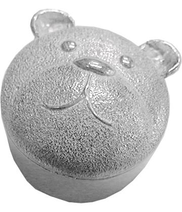 "Trinket Box with Teddy Bear Detailing 3.5cm (1.25"")"